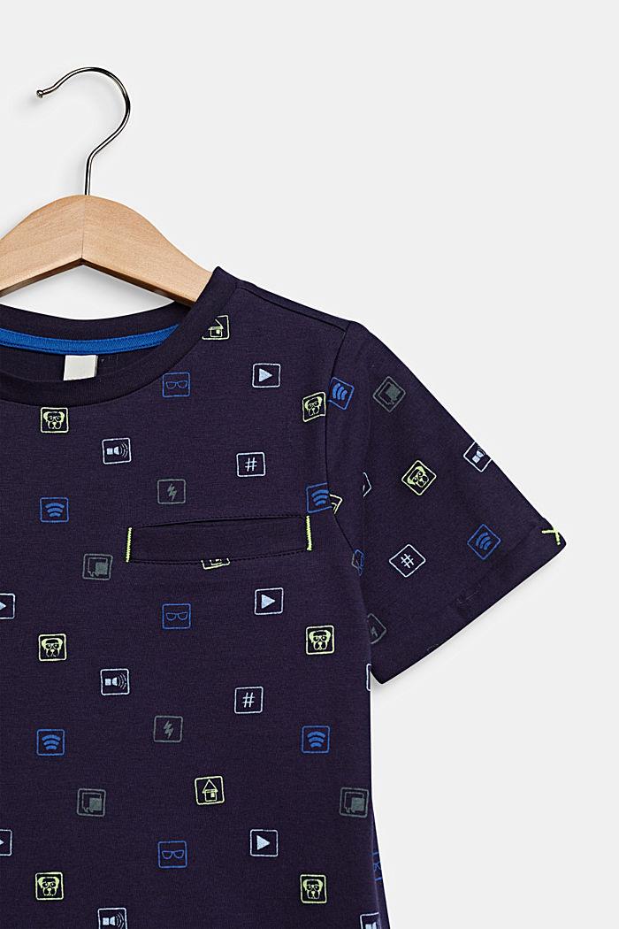 T-Shirt mit Allover-Print, 100% Baumwolle, NIGHT BLUE, detail image number 2