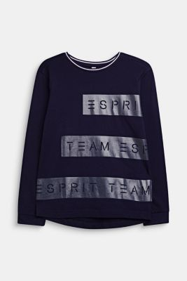 Long sleeve top with a logo print, LCNIGHT BLUE, detail