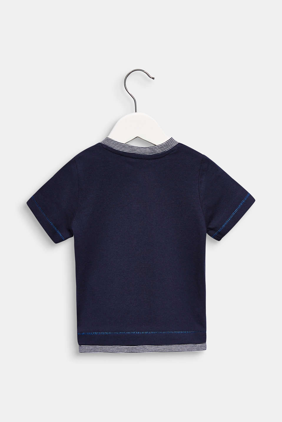Cotton piqué T-shirt, LCMIDNIGHT BLUE, detail image number 1