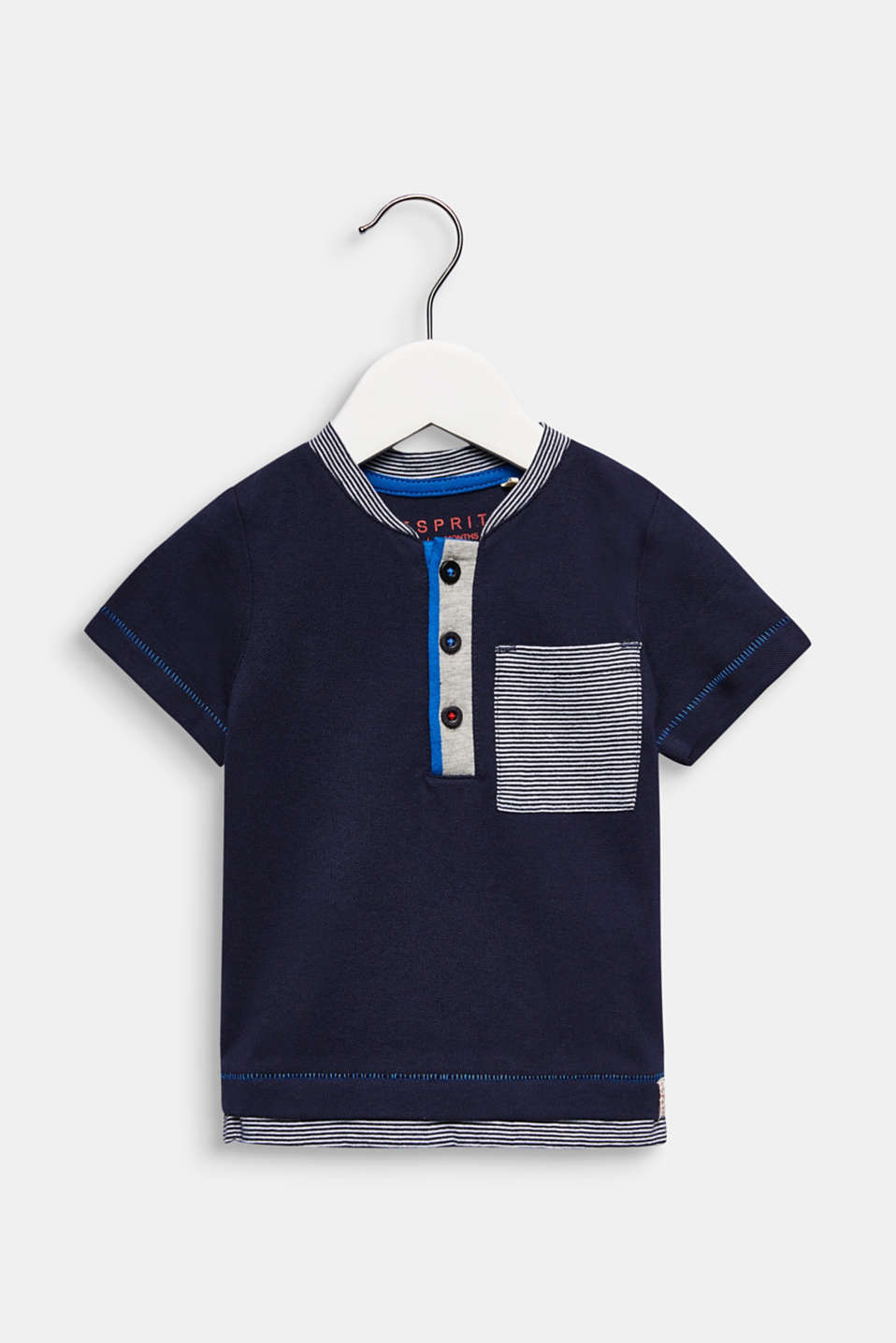 Cotton piqué T-shirt, LCMIDNIGHT BLUE, detail image number 0
