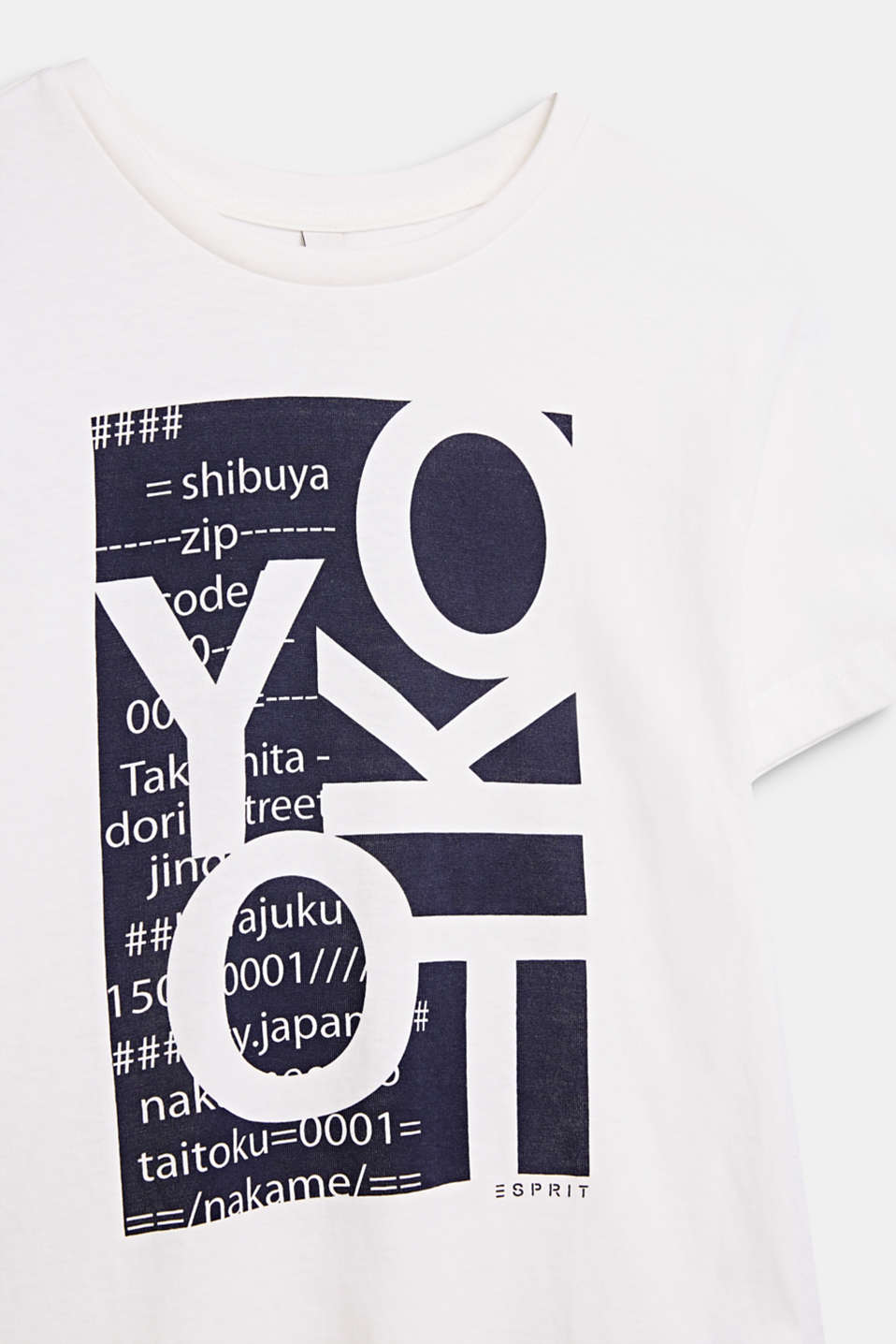 Front print T-shirt, 100% cotton, LCOFF WHITE, detail image number 2