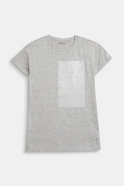 T-shirt with a glittering logo print