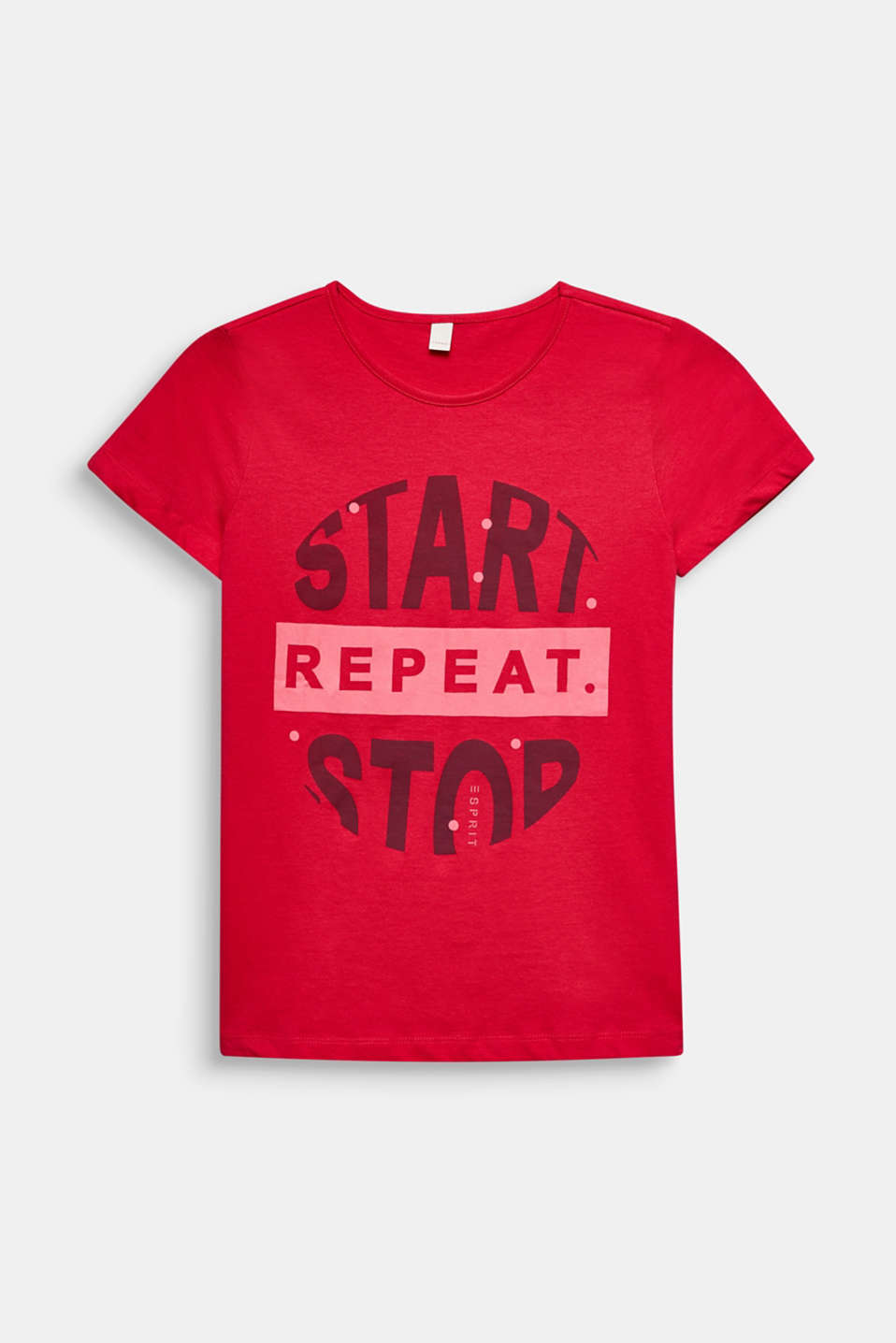 Printed T-shirt, 100% cotton, RASPBERRY, detail image number 0
