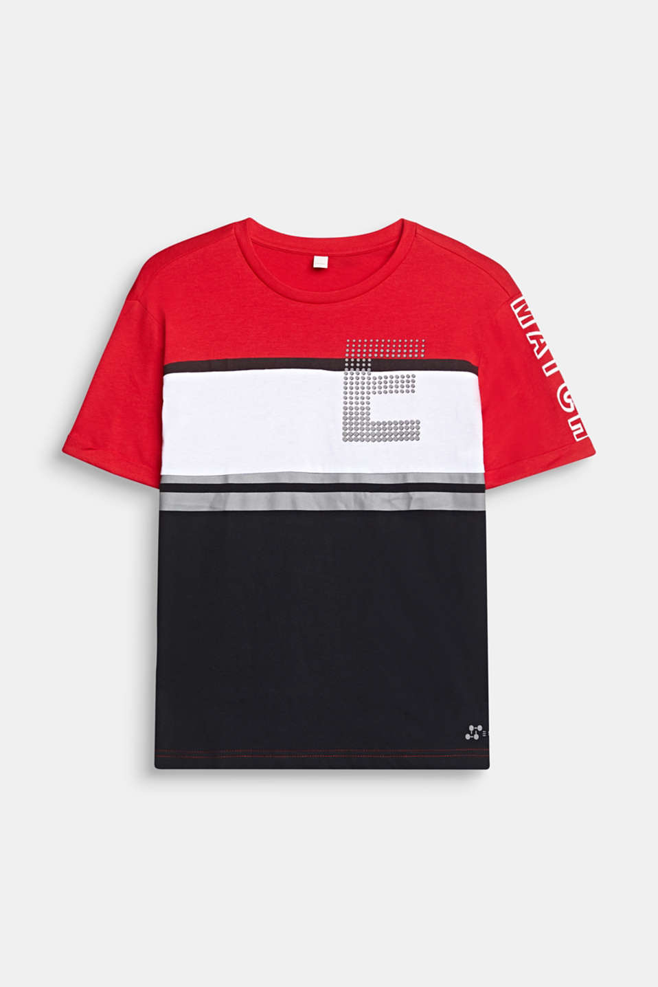 Esprit - Color block-T-shirt med print