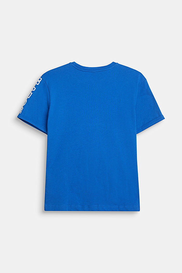 Colour block T-shirt with a print
