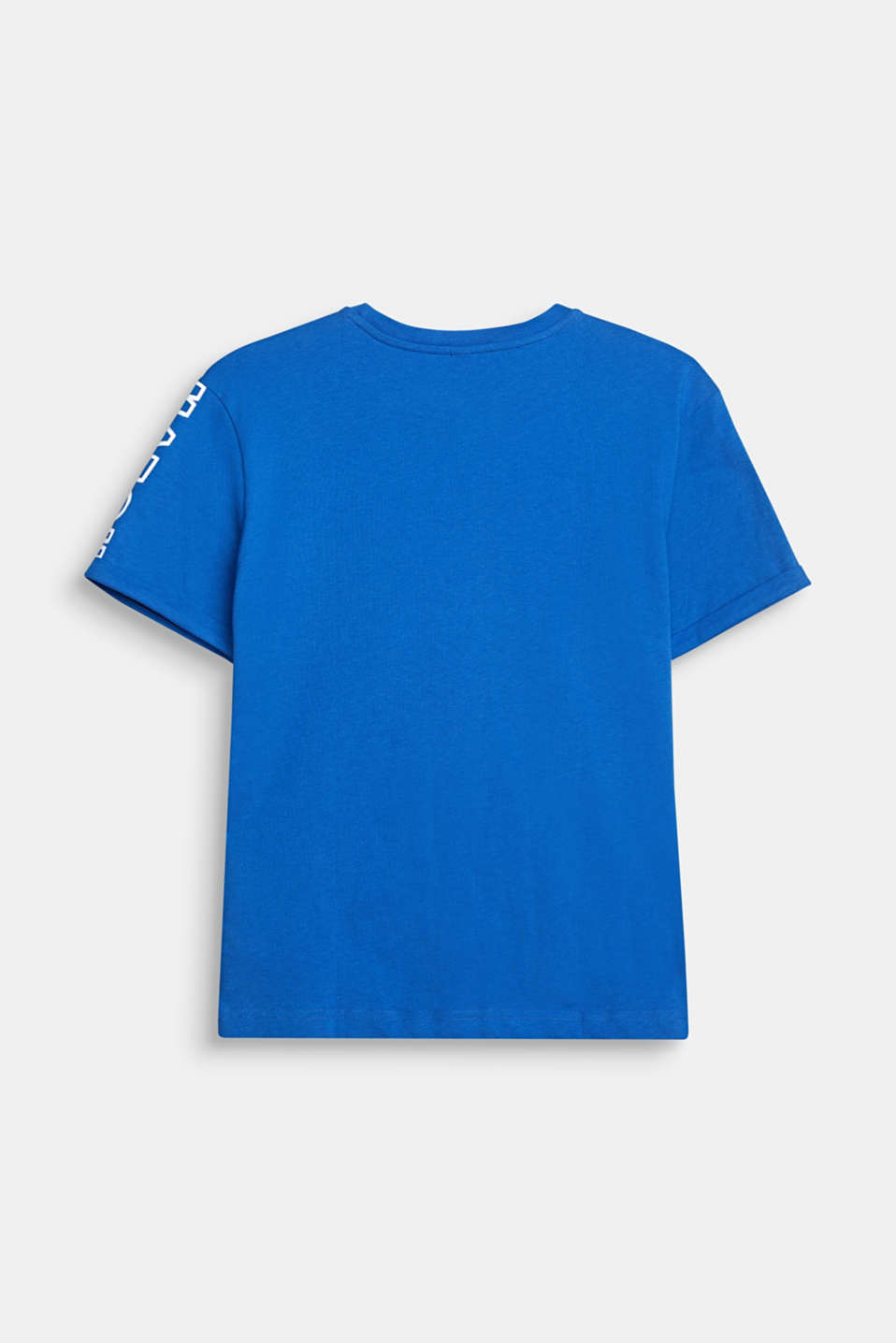Colour block T-shirt with a print, LCELECTRIC BLUE, detail image number 1