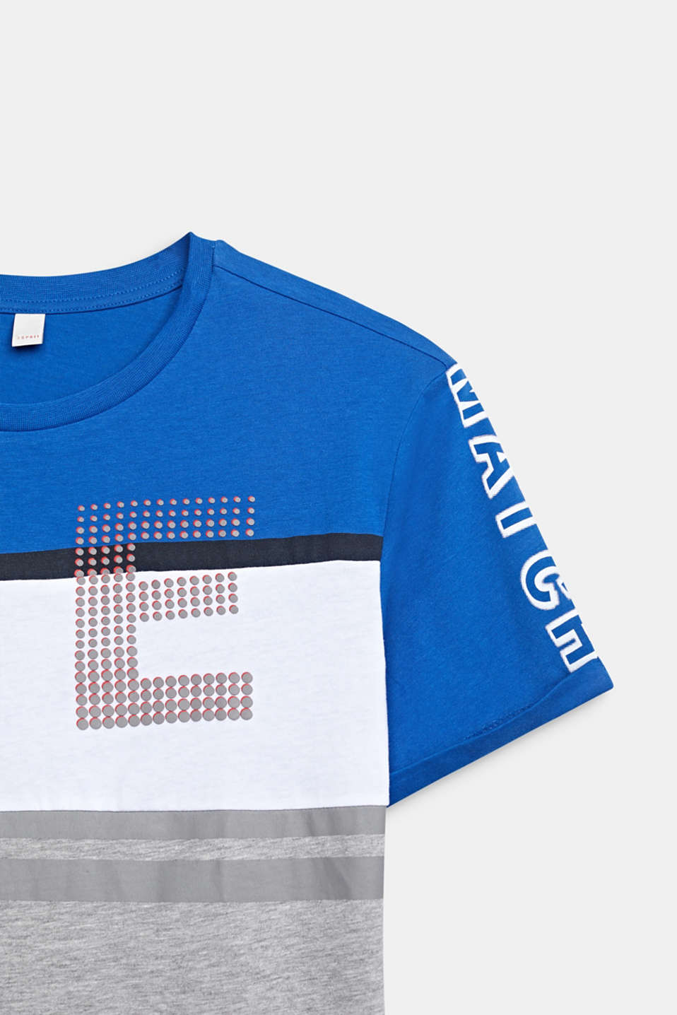 Colour block T-shirt with a print, LCELECTRIC BLUE, detail image number 2