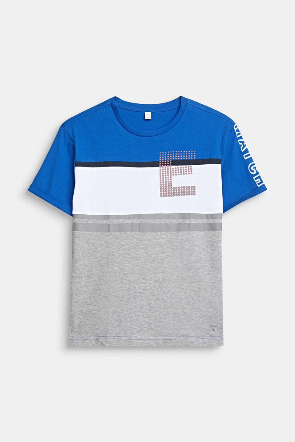 Colour block T-shirt with a print, LCELECTRIC BLUE, detail image number 0