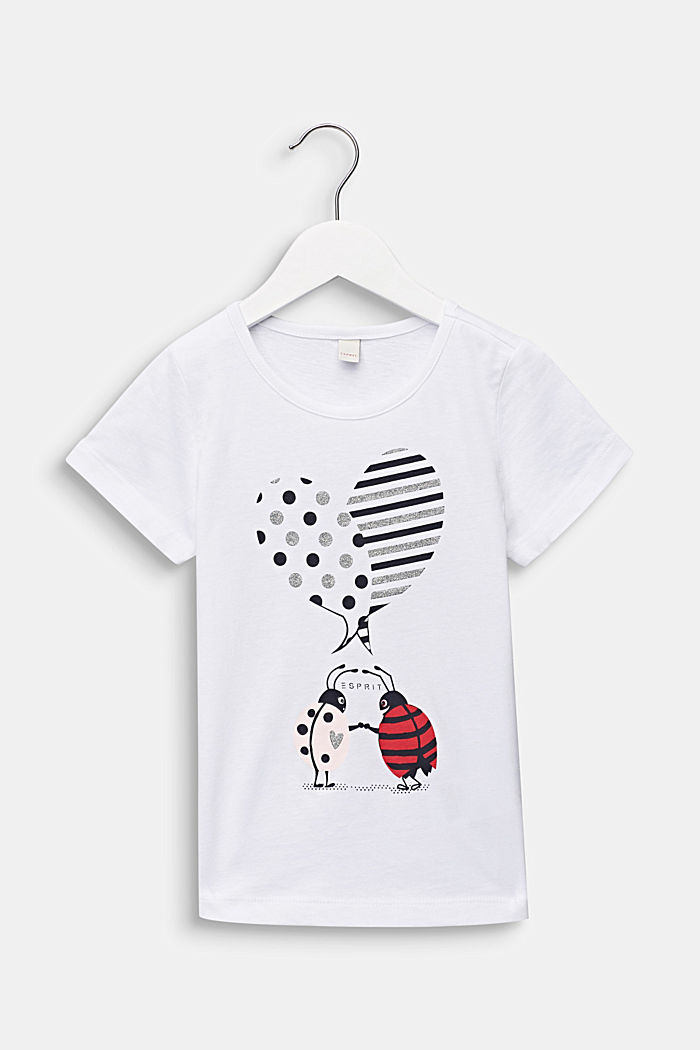 T-Shirt mit glitzerndem Käfer-Print