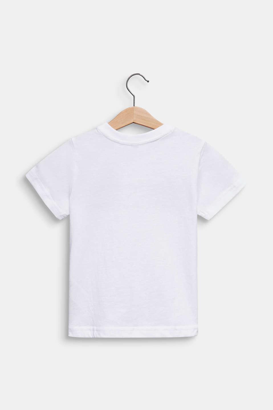 Printed T-shirt, 100% cotton, WHITE, detail image number 1