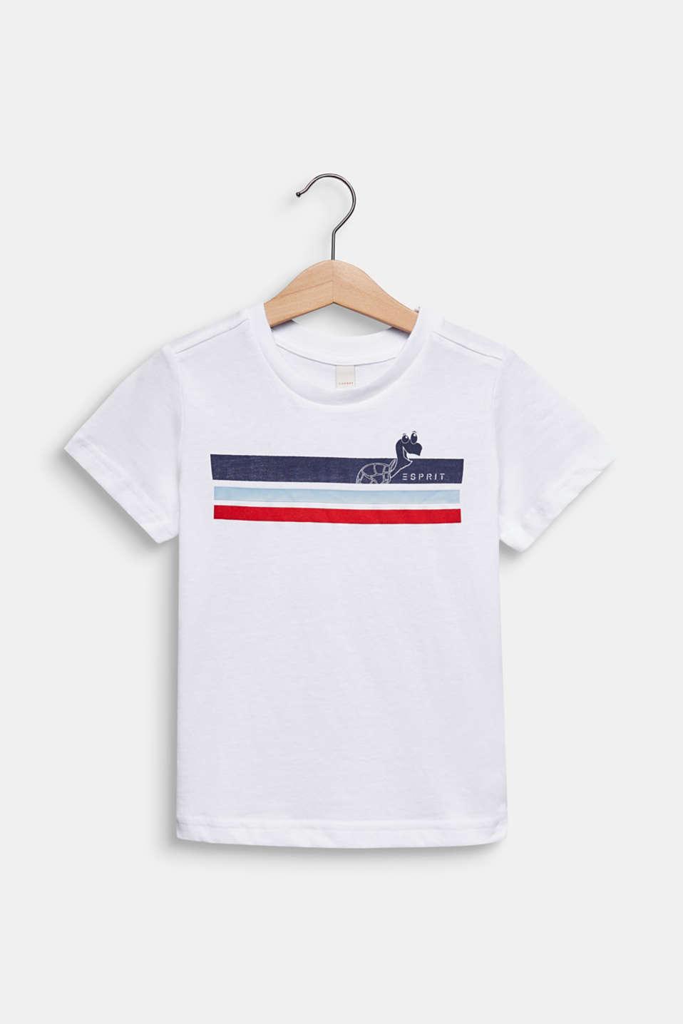 Printed T-shirt, 100% cotton, WHITE, detail image number 0