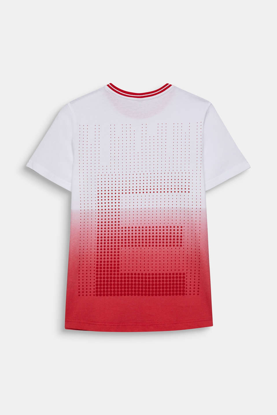 Graduated colour tee, 100% cotton, LCRED, detail image number 1