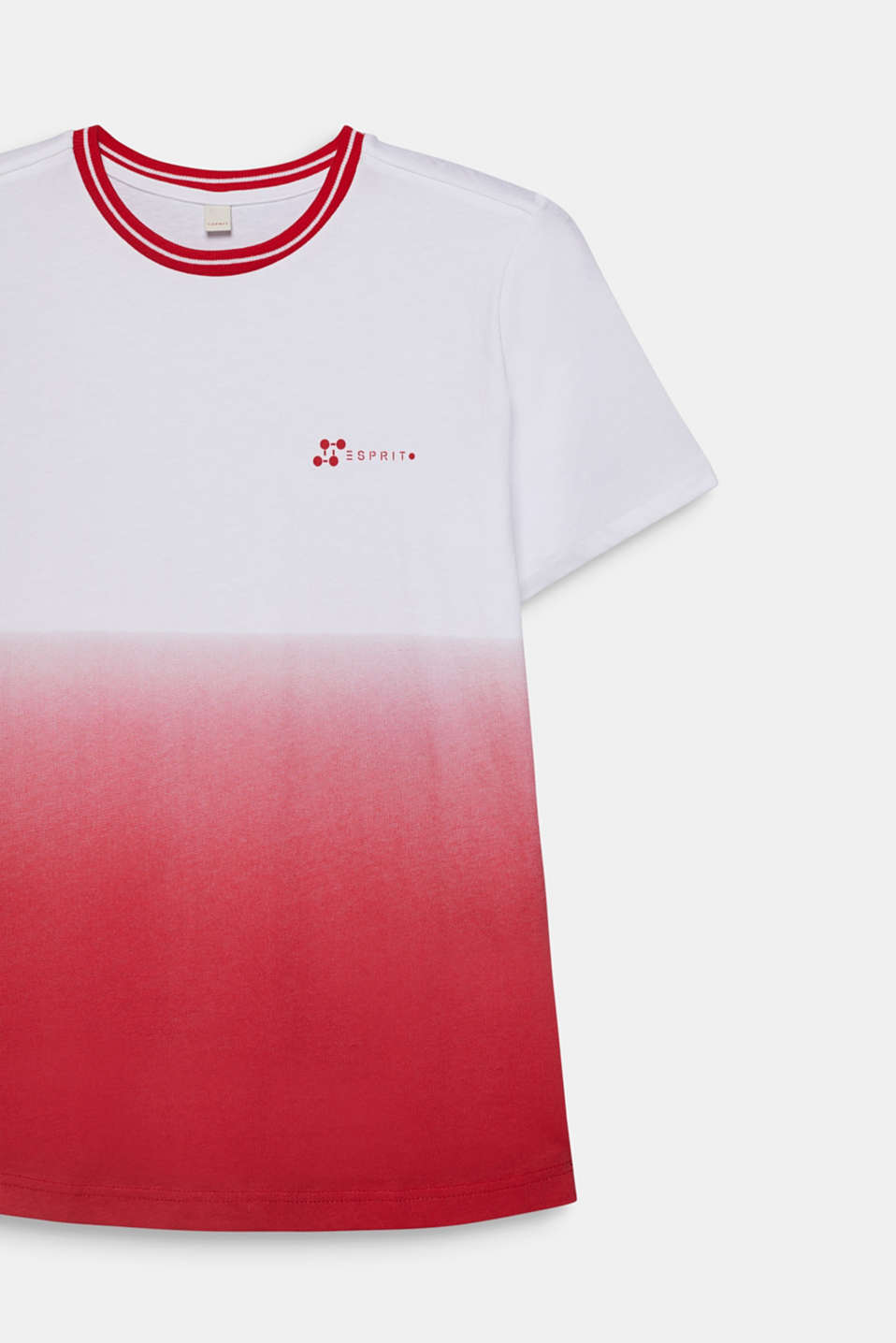 Graduated colour tee, 100% cotton, LCRED, detail image number 2