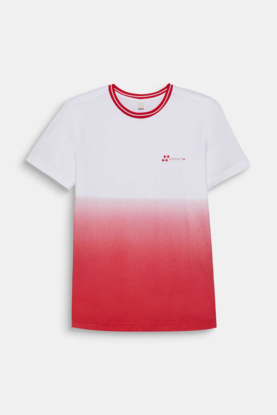 Graduated colour tee, 100% cotton, LCRED, detail image number 0