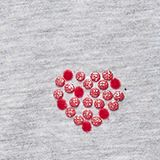 T-shirt with a glittery heart print, HEATHER SILVER, swatch