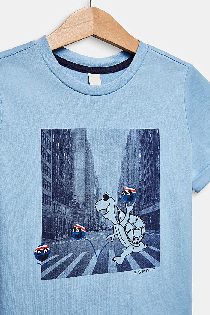 T-shirt with a photo print, LIGHT BLUE, detail image number 2