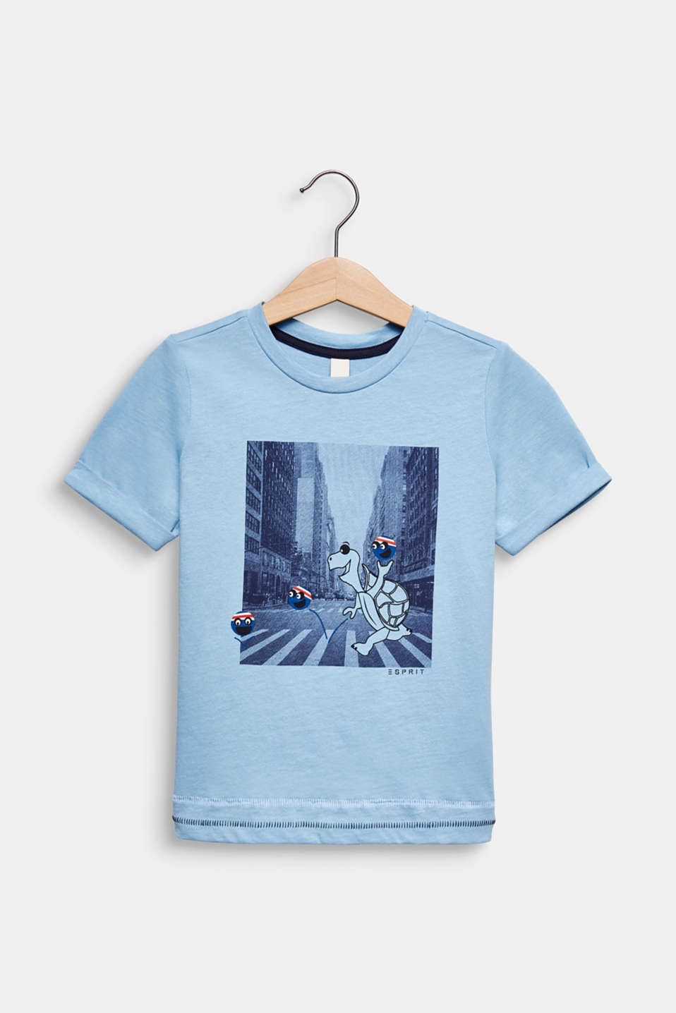 T-shirt with a photo print, LIGHT BLUE, detail image number 0