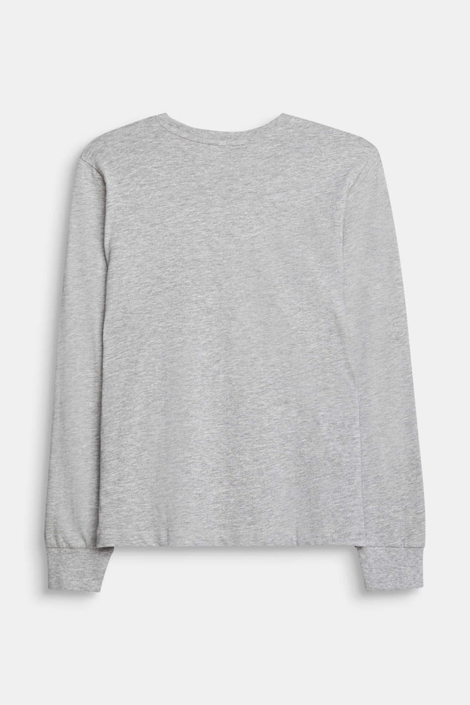 Long sleeve top with a 3D logo print, LCMID HEATHER GR, detail image number 1