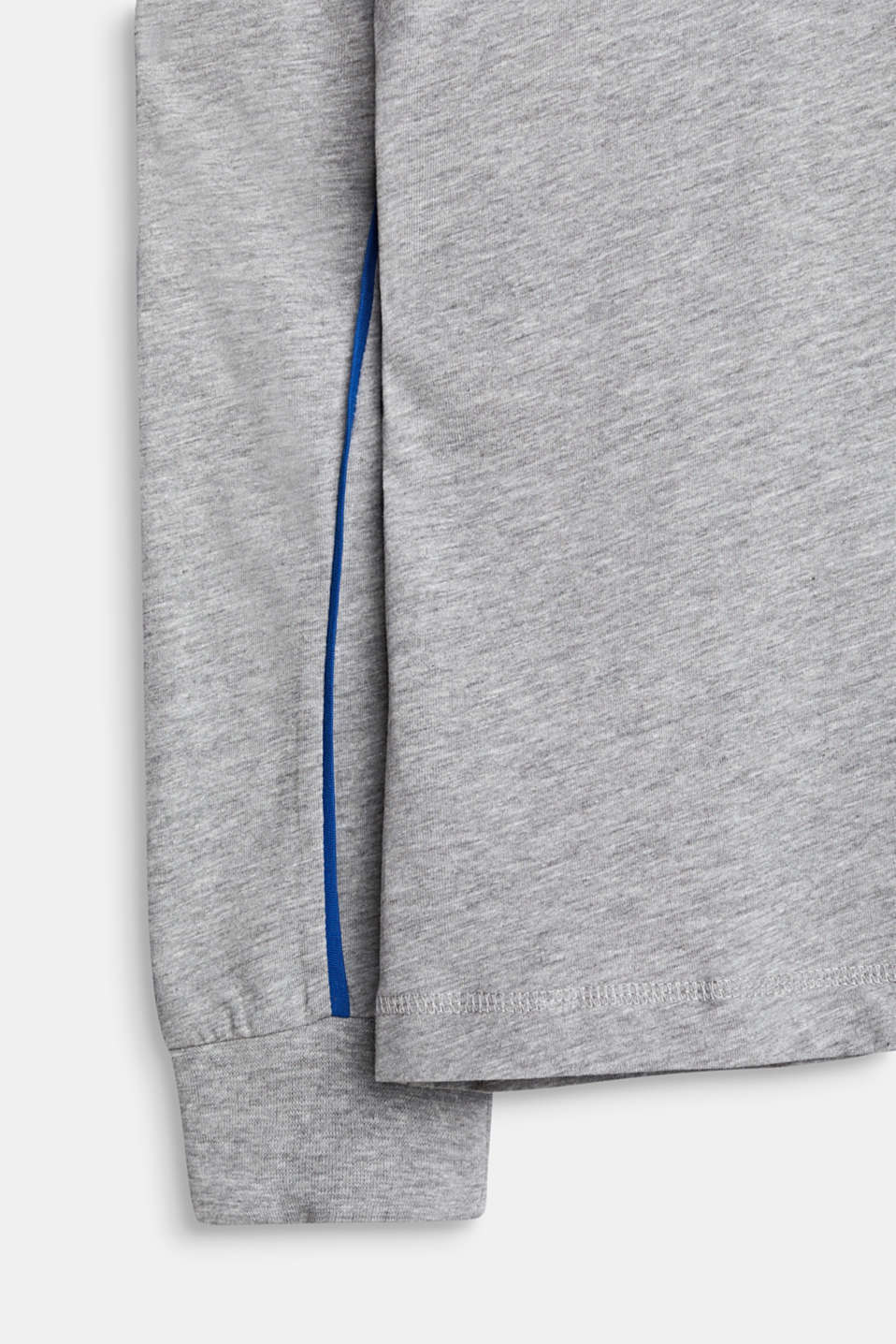 Long sleeve top with a 3D logo print, LCMID HEATHER GR, detail image number 3