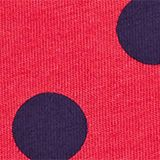 T-shirt with a polka dot print, 100% cotton, RASPBERRY, swatch