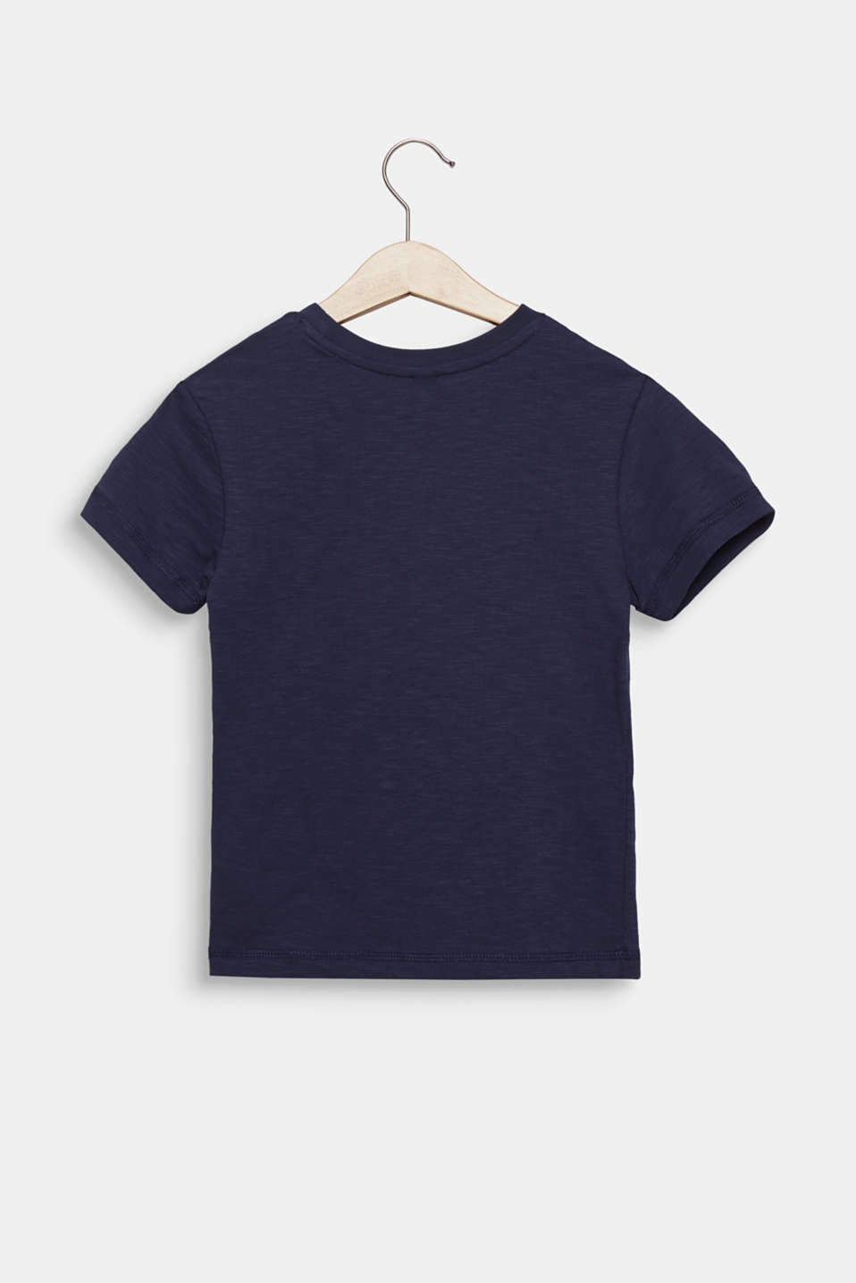 Slub T-shirt with print, 100% cotton, MIDNIGHT BLUE, detail image number 1