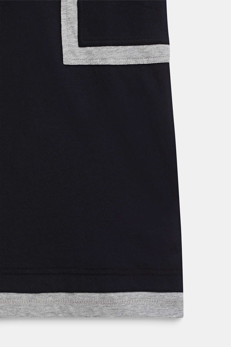 Colour block T-shirt, LCMID HEATHER GR, detail image number 3