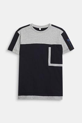 Colour block T-shirt, LCMID HEATHER GR, detail