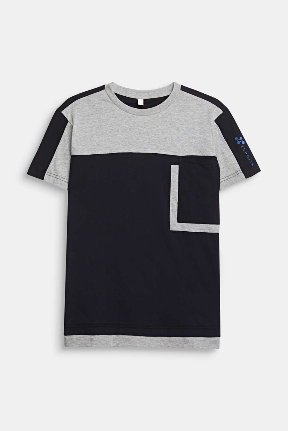Esprit - T-shirt i colourblock-look