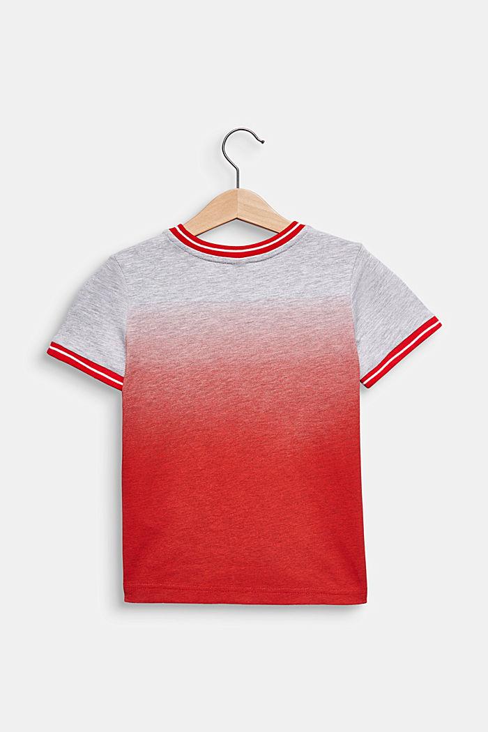 Colour graduation T-shirt, cotton blend