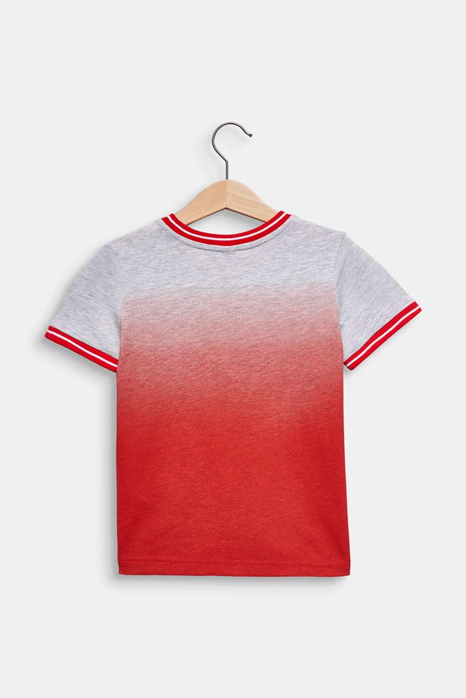 Colour graduation T-shirt, cotton blend, RED, detail image number 1