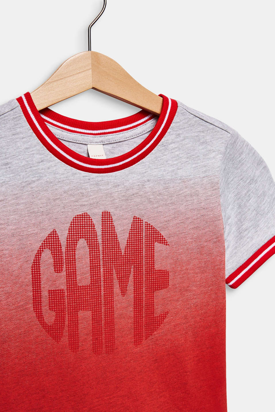 Colour graduation T-shirt, cotton blend, RED, detail image number 2