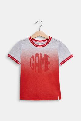 Colour graduation T-shirt, cotton blend, RED, detail