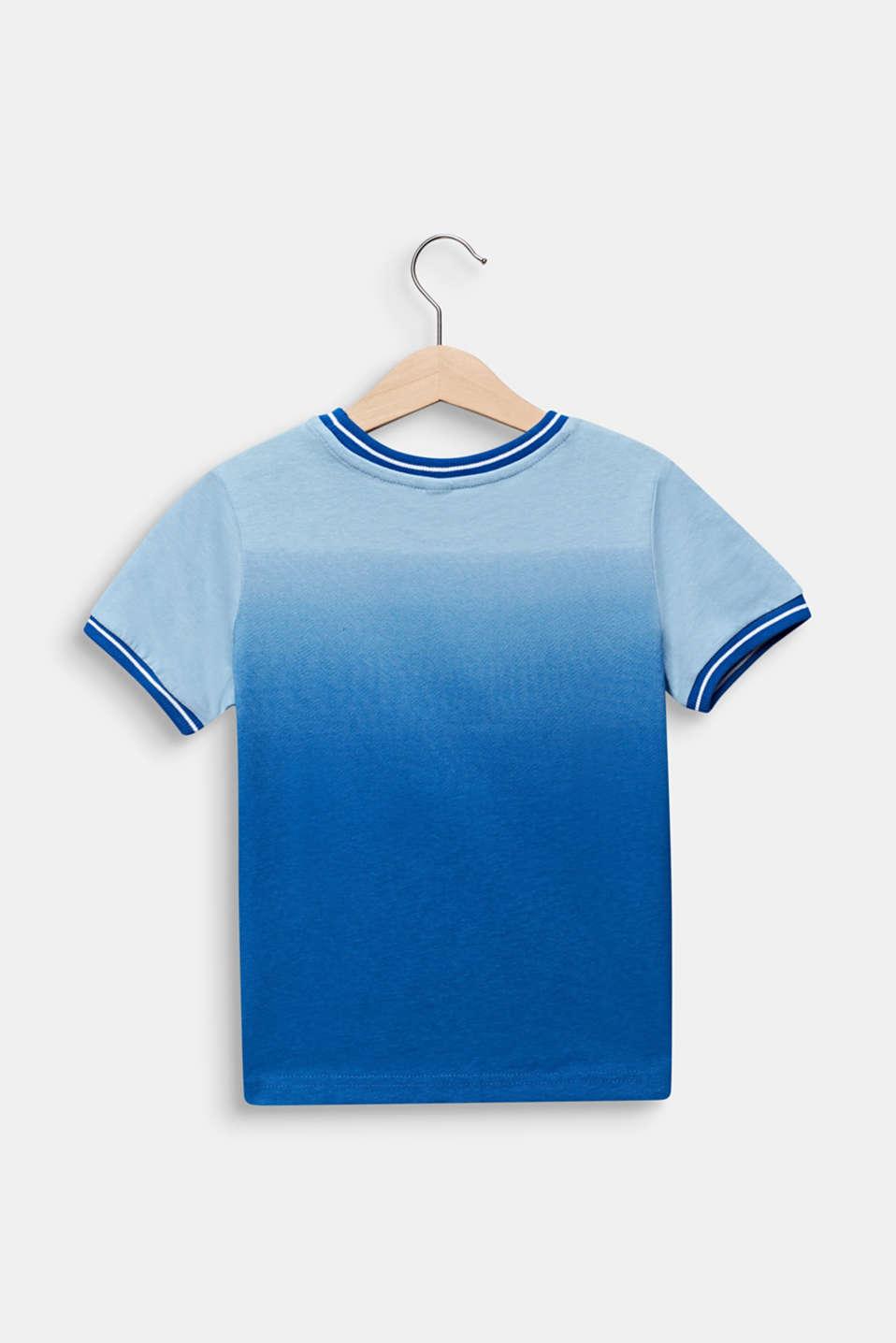 Colour graduation T-shirt, cotton blend, ELECTRIC BLUE, detail image number 1