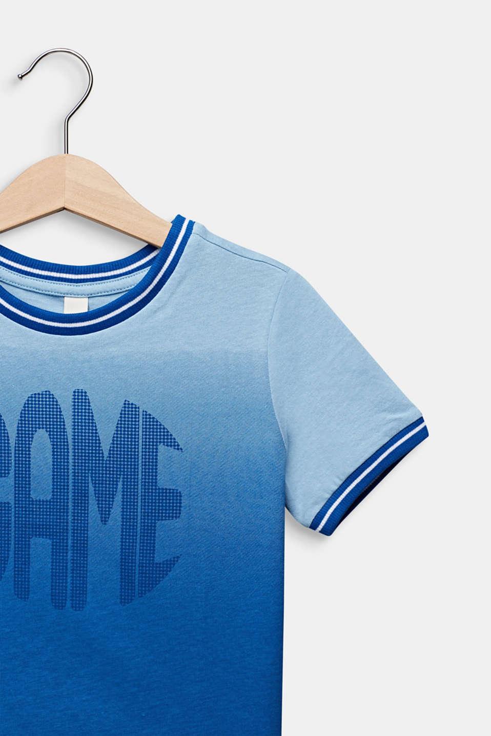 Colour graduation T-shirt, cotton blend, ELECTRIC BLUE, detail image number 2