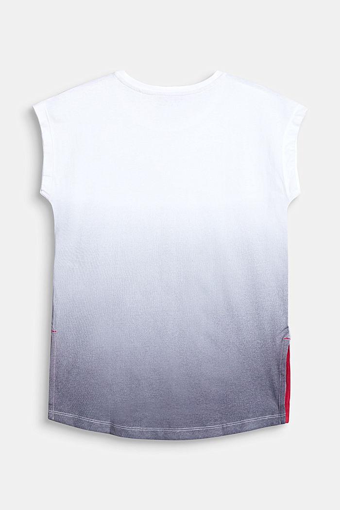 T-Shirt mit Farbverlauf, 100% Baumwolle, WHITE, detail image number 1