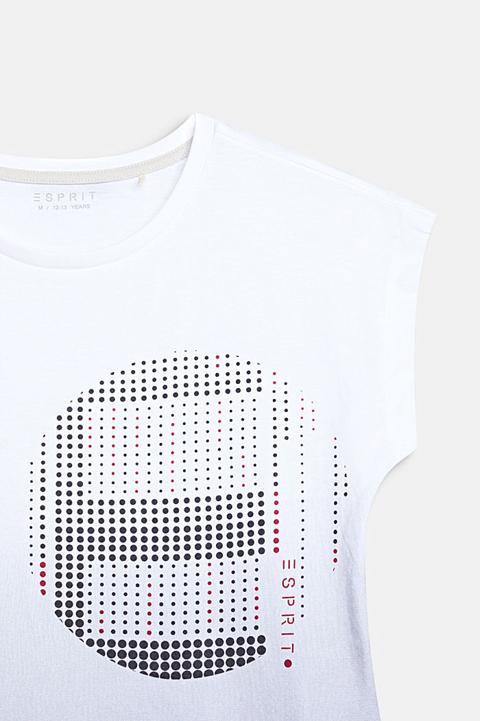 T-Shirt mit Farbverlauf, 100% Baumwolle, WHITE, detail image number 2