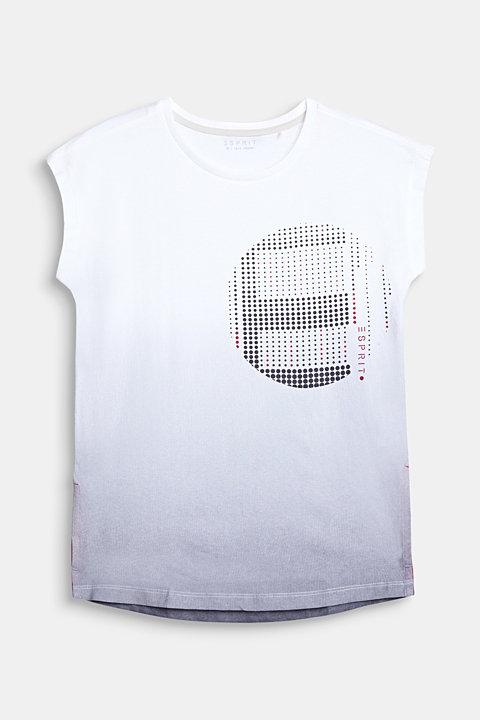 T-shirt with colour graduation, 100% cotton