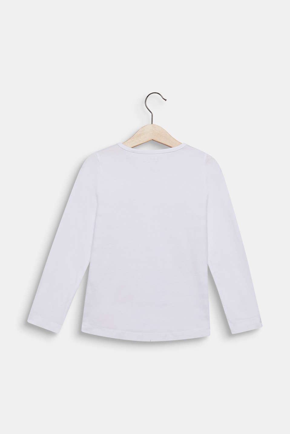 Long sleeve top with sequin ladybird, 100% cotton, WHITE, detail image number 1