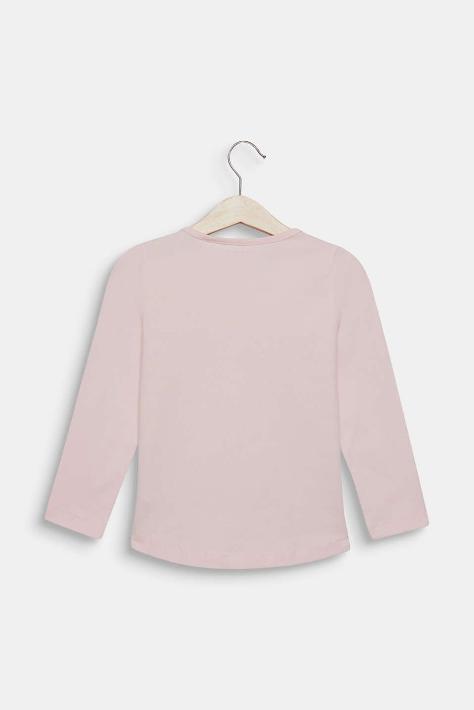 Long sleeve top with sequin ladybird, 100% cotton, LIGHT PINK, detail image number 1