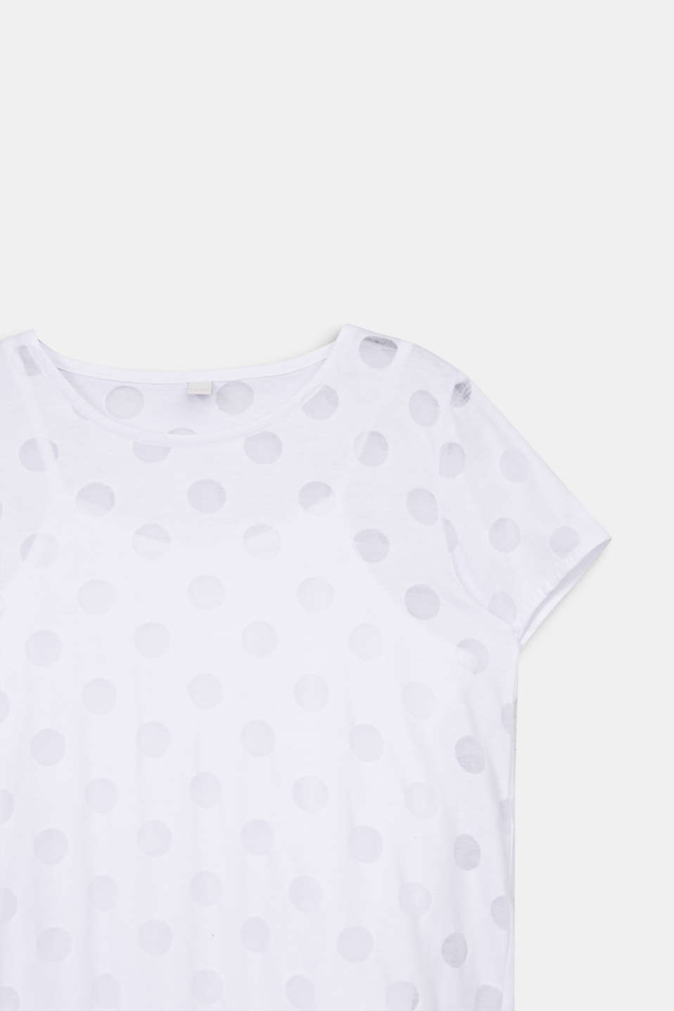 Two-in-one T-shirt with a burnt-out pattern, LCWHITE, detail image number 2