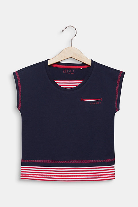 T-shirt with striped layering