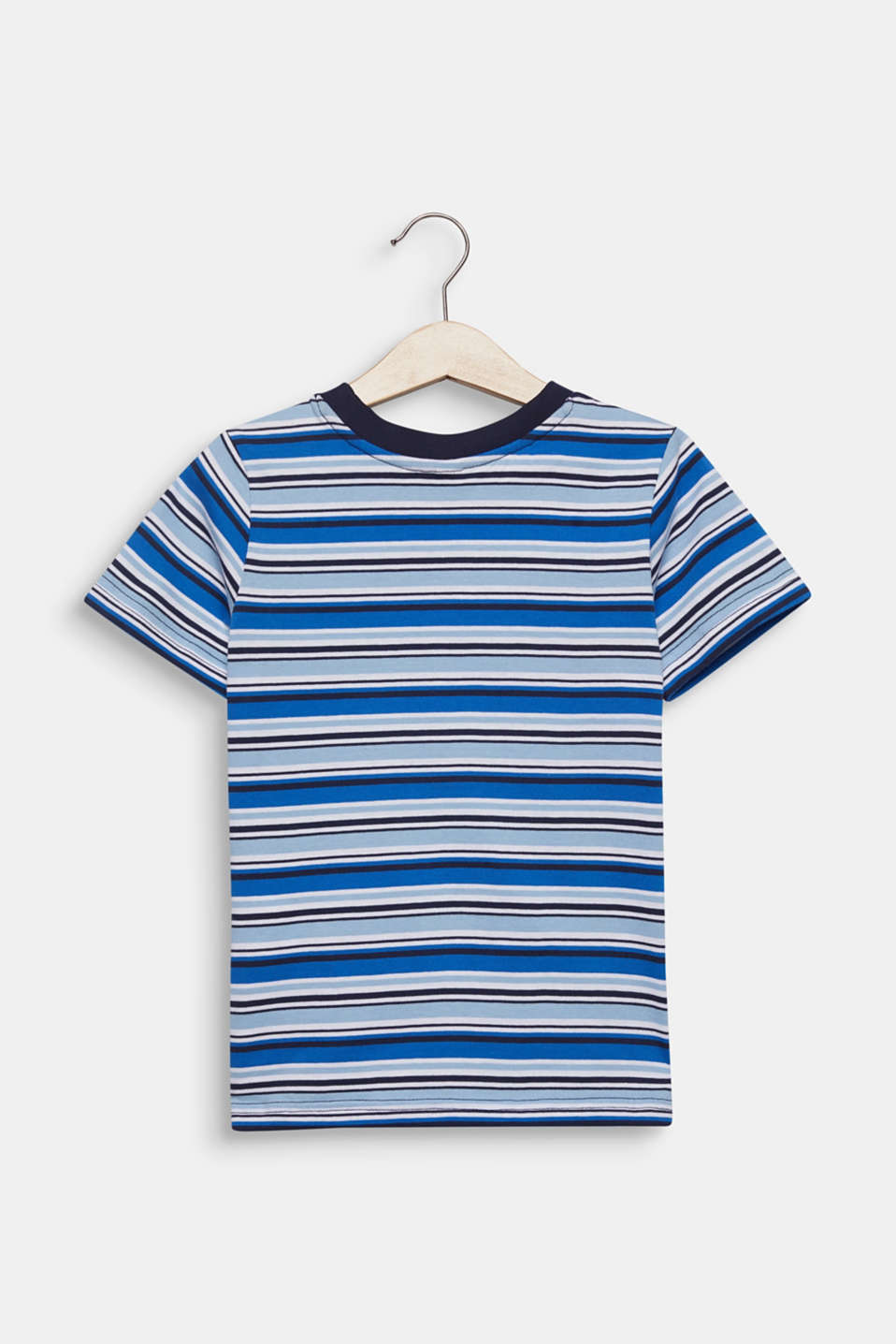 Striped T-shirt, 100% cotton, LIGHT BLUE, detail image number 1