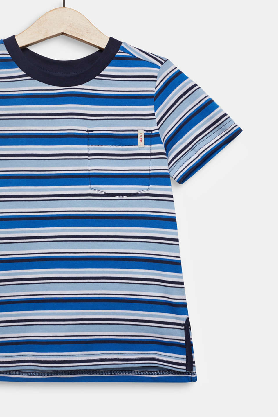 Striped T-shirt, 100% cotton, LIGHT BLUE, detail image number 2