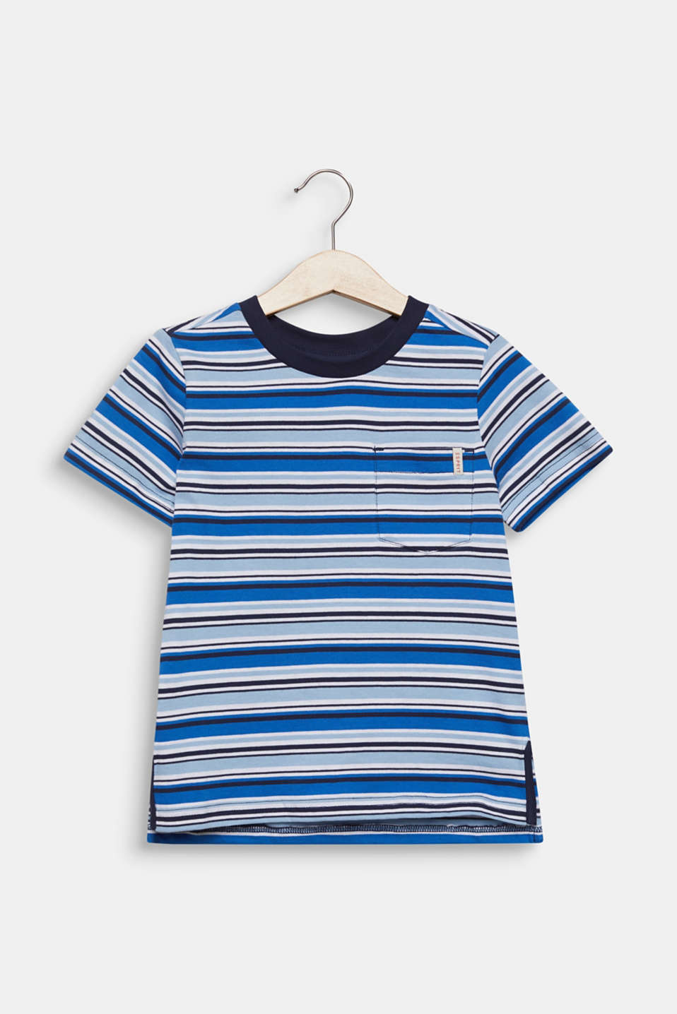 Striped T-shirt, 100% cotton, LIGHT BLUE, detail image number 0