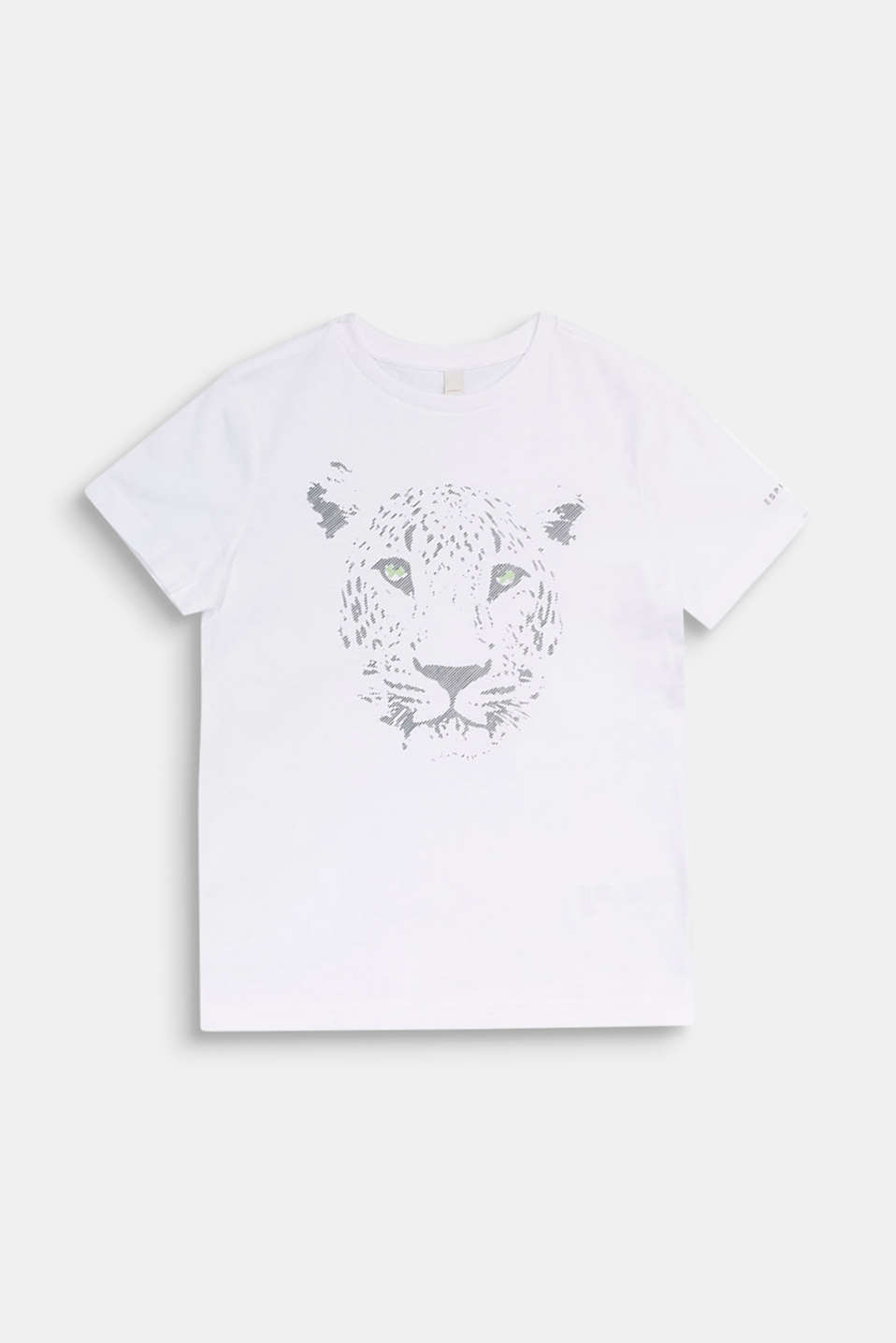 Front print T-shirt, 100% cotton, LCWHITE, detail image number 0