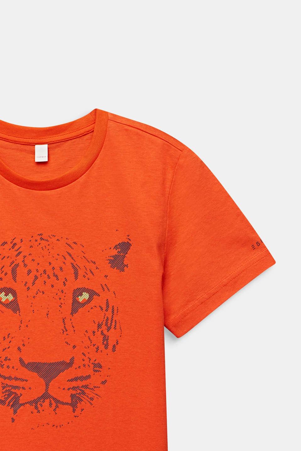 Front print T-shirt, 100% cotton, LCTANGERINE, detail image number 2