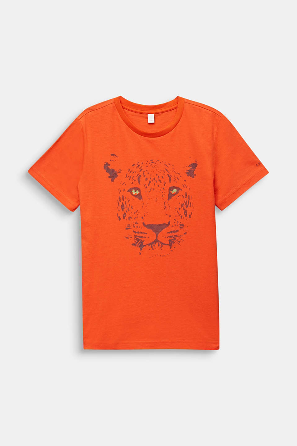 Front print T-shirt, 100% cotton, LCTANGERINE, detail image number 0