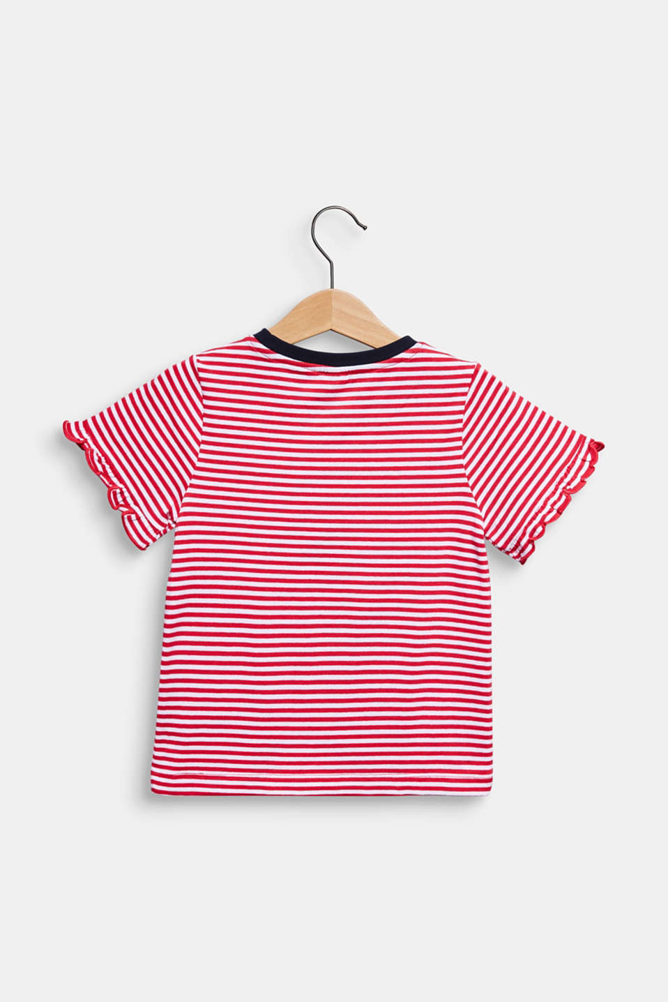 100% cotton T-shirt with reversible sequins, RASPBERRY, detail image number 1