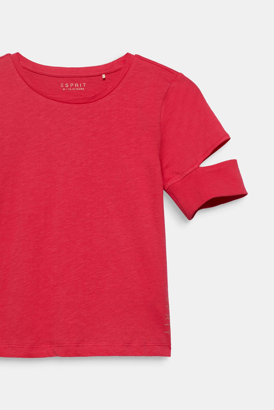 100% cotton slub T-shirt with cut-outs, LCRASPBERRY, detail image number 2
