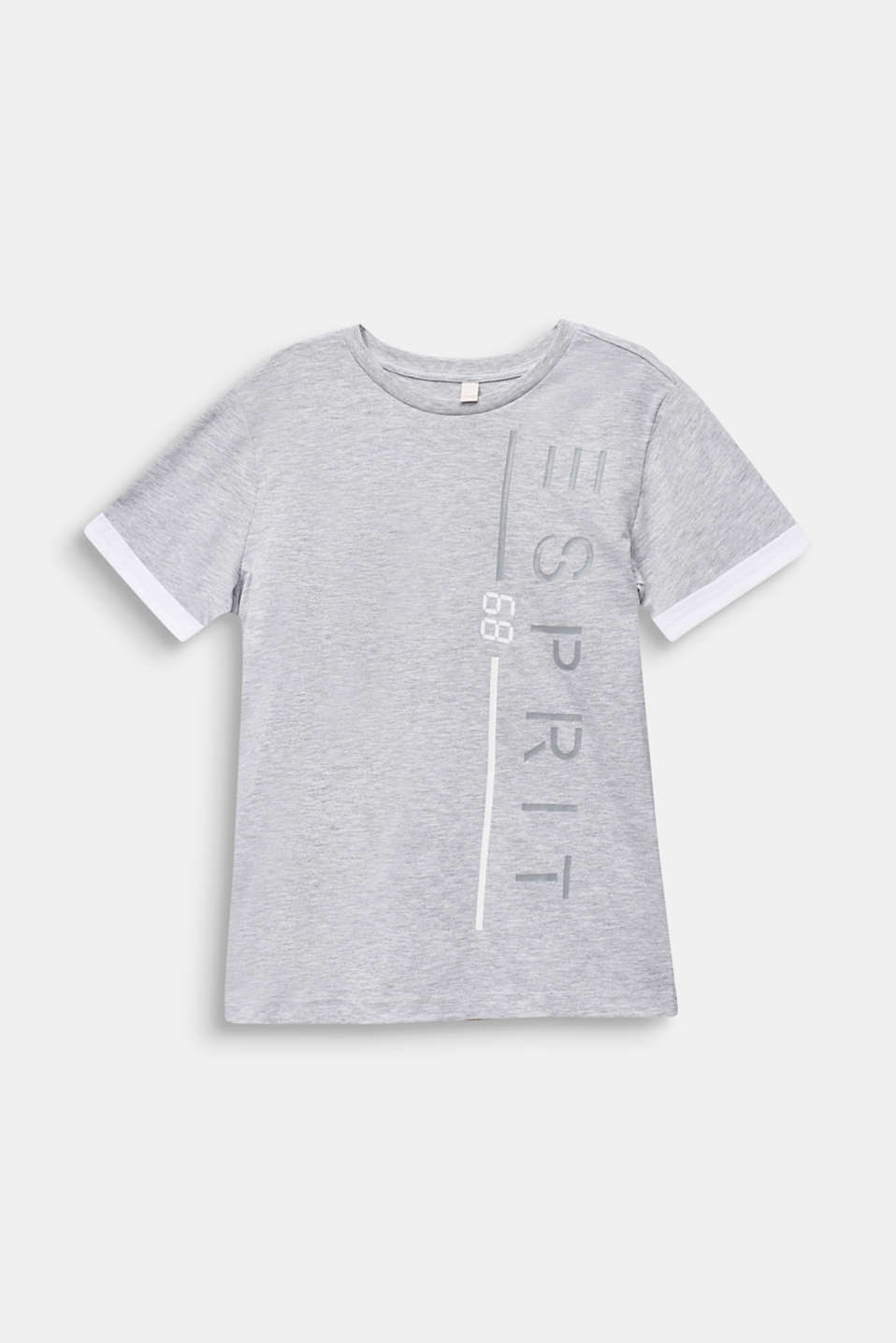 Logo T-shirt, 100% cotton, LCHEATHER SILVER, detail image number 0